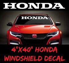 HONDA Windshield Window Banner Decal Vinyl Sticker Race turbo civic accord sport