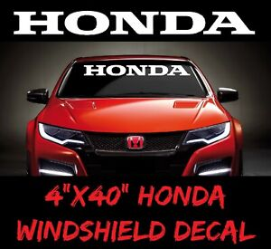 HONDA Windshield Window Banner Decal Vinyl Sticker Race turbo civic accord sport