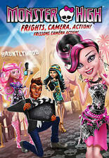 Monster High:Frights, Camera, Action Blu-Ray/DVD +Digital HD-Free Shipping