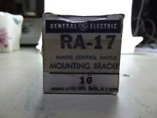 vintage general electric RA-17 remote control switch mounting bracket & 6 coaxia