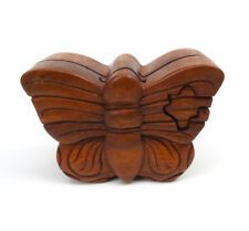 Butterfly Wood Puzzle Box Handmade Decorative Wooden Jewelry Trinket Box