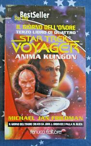 STAR TREK voyager ANIMA KLINGON Michael Jan Friedman FANUCCI BEST SELLERS 78 Q/N