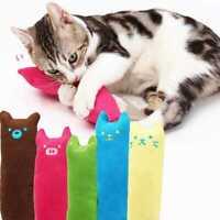 Cute Pillow Scratch Crazy Cat Kitty Kicker Catnip Toy Grinding w/ Toy Teeth P2K9