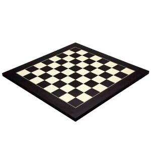 21.7 Inch Matt Black and Maple Deluxe Chess Board