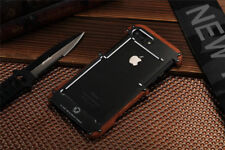 Armor Metal Wooden Wood Frame Bumper Shockproof Case Cover For Phone R-just