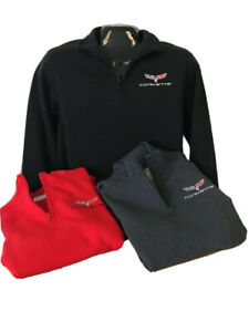 Mens C6 Corvette 1/4 Zip Sweatshirt Buds Chevrolet