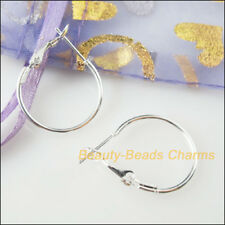 10Pcs Jewelry Lot Circle Basketball Wives Hoops Earrings Silver Plated 20mm