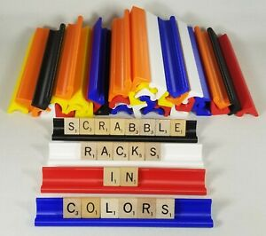 Scrabble Tile Racks in COLOR Set of 4 Plastic Holders + Long Version Available