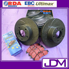 RDA SLOTTED & DIMPLED Front Brake Discs & EBC ULTIMAX Pads - NISSAN 180SX RS13
