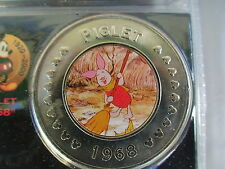 Disney Decades Coins # 13 Piglet 1968 New in package