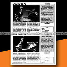 ★ PIAGGIO 50 PK & MBK 50 CHAMP ★ 1988 Essais Scooter / Road Test #a1055