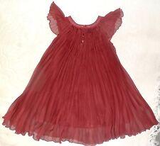 Superbe robe cérémonie,mariage,fête, REPETTO 6ans plissé rouge cerise