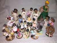 African-American Figurine LOT OF 23 Figures, Sports, Dance, Angels, Family Etc.