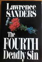 THE FOURTH DEADLY SIN  ~ LAWRENCE SANDERS ~  HARD COVER WITH DUST JACKET ~ BRAND