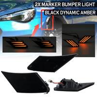 2PCS Dynamic LED Side Marker Bumper Light Lamp For Toyota 86 Subaru BRZ Scion