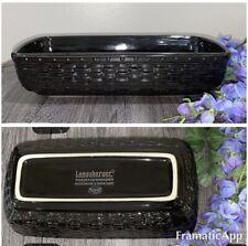 Longaberger Pottery Woven Reflections Black Rectangle Serving Baking Dish 12�X 6