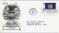 US Scott #1643, First Day Cover 2/23/76 Washington Single State Flag