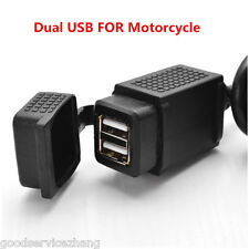 5V 2.1A Dual USB Power Supply Port Socket Charger Motorcycle Mobile Phone GPS
