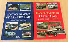 2 x Rob De La Rive Box ENCYCLOPAEDIA OF CLASSIC CARS - Saloon & Sports - 1945-75