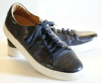 Trask Aaron Men's Blue Leather Perforated Lace Up Sneakers, Shoes, size 9 M