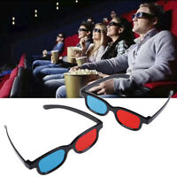 Universal Red Blue 3D Glasses For Dimensional Anaglyph Movie Game Fad bf