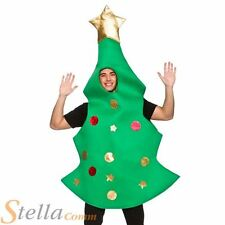 Adult Christmas Tree Xmas Fancy Dress Costume Mens Ladies Unisex Outfit