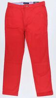 TOMMY HILFIGER Men's TH FLEX Chino Pants, Slim Fit, Red, W30 W32 W34