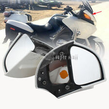Rear View Mirrors w/ Amber Turn Signal for BMW R1100 RT R1100 RTP R1150 RT White