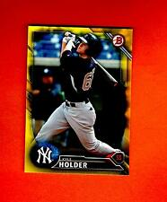 2016 BOWMAN YELLOW RETAIL PAPER PARALLE KYLE HOLDER NEW YORK YANKEES #BP83 nrmt