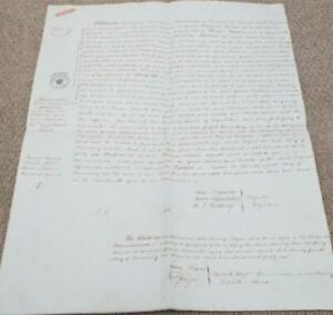 1845 Attested Copy of  Administration de Bonis Non of Honor Westley of Weymouth