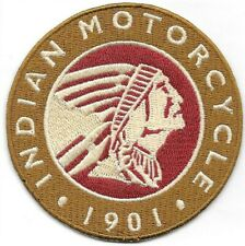 Indian Motorcycle 1901 Embroidered Patch Iron-On Sew-On fast US shipping Biker