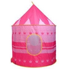 Children Portable Pop Up Play Tent Kids Girl Princess Castle Fairy Play House
