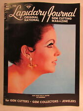 Lapidary Journal Magazine 1968 May Cast Gold Holly Leaves Earrings