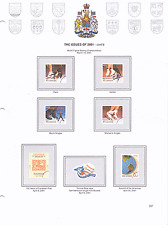 NorthStar Canada Stamp Album-Color-3-ring-New-201 Page, 2010-2016-40% off