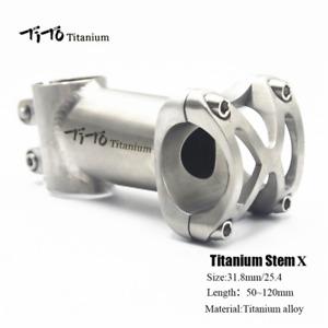 "TITO Titanium MTB Road Bike Bicycle Handlebar Stem 1"" 25.4mm 31.8mm 50-120mm 5°"