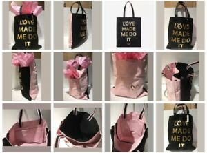 """Victoria's Secret Tote Double Bag """"Love Made Me Do It""""  Logo Limited Edition"""