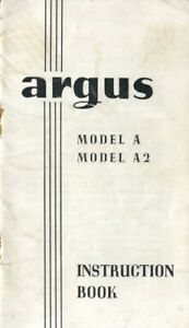 Argus Model A, A2 Instruction Manual