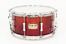 Pork Pie 7x14 Maple Snare w/ Waterfall Bubinga Veneer Fade - Auth. Dealer NEW