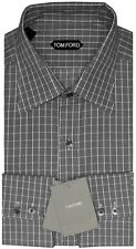 NEW TOM FORD GUCCI BLACK & WHITE WEAVE GRID CHECK DRESS SHIRT 40 15.75 $510