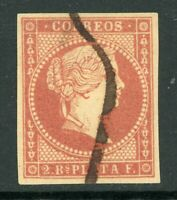 Spain 1855 Caribbean Colony 2r P Orange Red Yellow Paper Used F934
