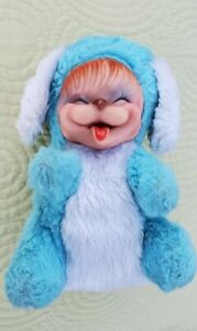 Vintage MY TOY Co. Plush Puppy Rubber Face Head RUSHTON ?