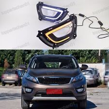 2x LED Daytime Running Lights DRL w/Turn Signals For Kia Sportage 2015