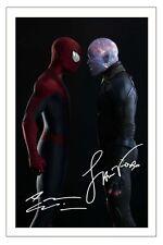 JAMIE FOXX & ANDREW GARFIELD THE AMAZING SPIDER MAN 2 SIGNED PHOTO PRINT POSTER