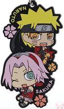 Naruto Shippudden Rubber Mascot Strap Charm We're a Duo Cell Naruto x & Sakura