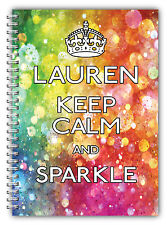 A5 NOTEBOOKS PERSONALISED/50 BLANK PAGES/KEEP CALM A5 NOTEBOOK/ GIFT FOR ALL/K4
