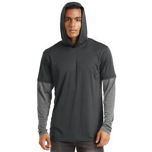 Men's UPF50+ Hoodies Long Sleeve UV Sun Protection Outdoor Fishing T-Shirts Tops