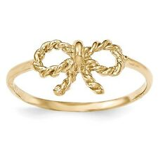 14k Solid Yellow Gold Polished Bow Ring - SKU #122907