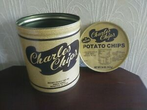 Charles Chips Tin Large 16 oz Collectable