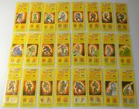 Lot 1985 GI Joe Cobra Triple Win Game Piece Sticker Card Complete Insert Set