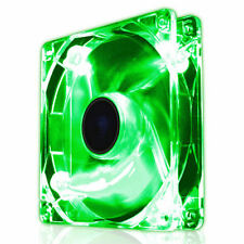 Dynamode 120mm Green LED PC Case Cooling Fan 12CM Cool Quiet Silent 3-Pin 4-Pin